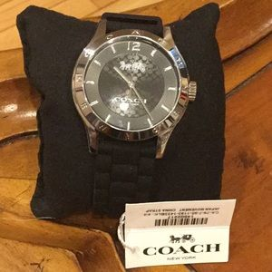 Coach, Black rubber Band Watch